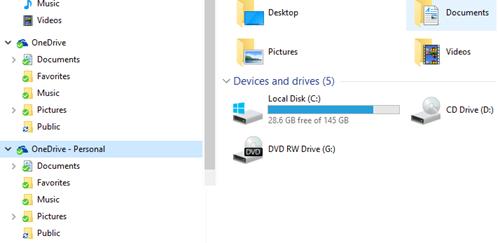 Sửa lỗi File Explorer hiển thị 2 thư mục OneDrive
